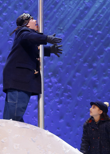 JEREMY SHINDER and ANALISE SCARPACI in a scene from A Christmas Story