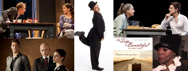 Katie Holmes, Ricky Martin, Chaplin, Patti LuPone, Debra Winger, Cicely Tyson all figure in this week in New York theater