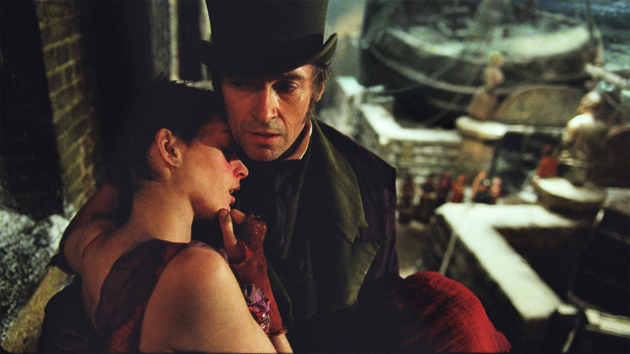 Anne Hathaway and Hugh Jackman in Les Miserables. Win tickets to see it.