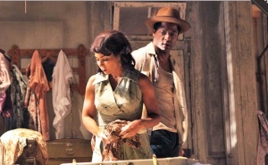 scene from A Streetcar Named Desire,  with Daphne Ruben-Vega and Blair Underwood
