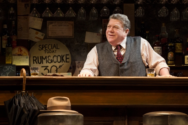 """George Wendt as bartender in """"Breakfast At Tiffany's"""" on Broadway"""