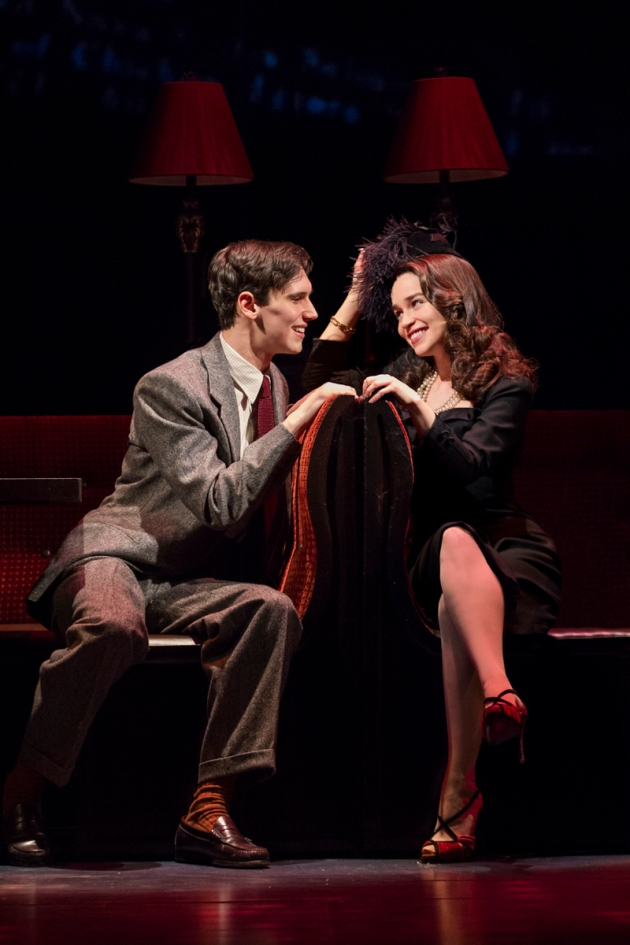Cory Michael Smith and Emilia Clarke at 21 Club in Breakfast At Tiffany's