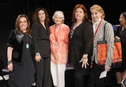 2013 Lily Award presenters Marsha Norman, and Julia Jordan; Lilly Awards recipient Lois Smith; presenter Theresa Rebeck and winner Mimi Kilgore