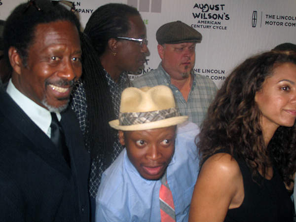 Clarke Peters, Larry Gilliard, Jr. musicians and other cast of Ma Rainey's Black Bottom, the first of the recorded shows.