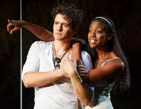 Orlando Bloom and Condola Rashad on Broadway