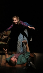 Michael Cerveris and Sydney Lucas as Dad and Small Alison