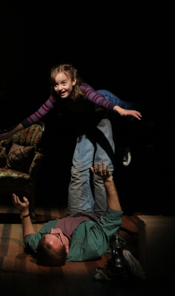 Fun Home Michael Cerveris and Sydney Lucas as Dad and Small Alison