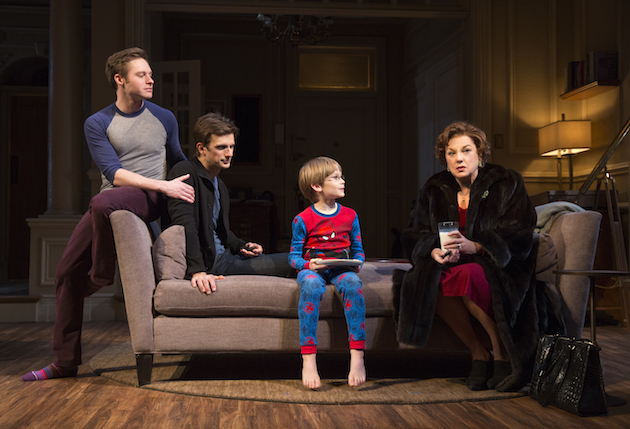 Bobby Steggert, Frederick Weller, Grayson Taylor and Tyne Daly in Mothers and Sons