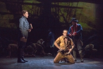 Will Swenson as Javert and Ramin Karimloo as Valjean