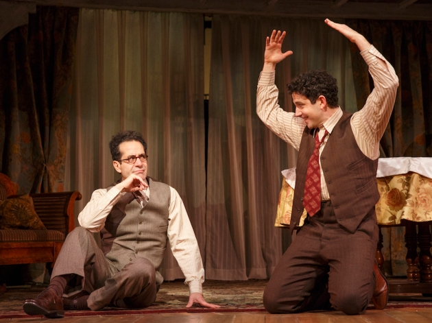Tony Shalhoub as quirky George S. Kauffman, mentor and collaborator to Moss Hart, portrayed by Santino Fontana