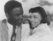 """Ruby Dee with Jackie Robinson in """"The Jackie Robinson Story"""""""