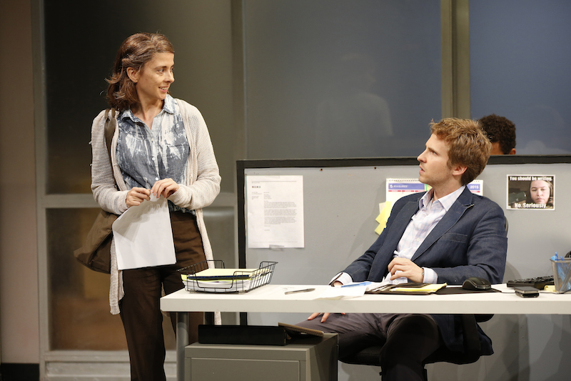 Jeanine Serralles and Ryan Spahn in Gloria. Photo by Carol Rosegg
