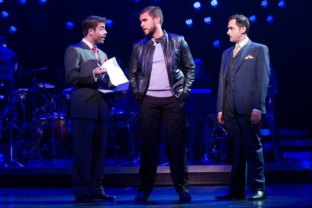 13-0666_Omar Lopez-Cepero, Josh Segarra and Lee Zarrett in ON YOUR FEET! (c) Matthew Murphy