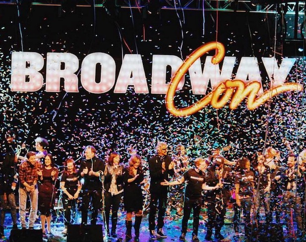 BroadwayCon confetti at opening musical in 2016