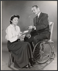 Ralph Bellamy as FDR in Sunrise at Campobello. . Dore Schary's play, which ran on Broadway for 16 months and won four Tony Awards in 1958, including for best play, chronicles Franklin Delano Roosevelt's battle with polio and his return to politics. The play ends a decade before he becomes president.