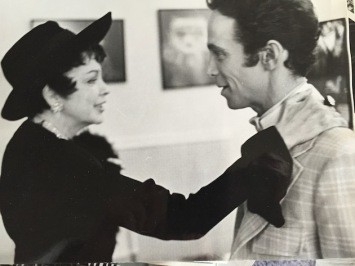 Joel Grey with Judy Garland in his dressing room in the Place in 1967.