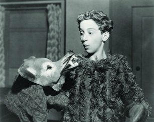 Joel David Katz as a child performer at the Cleveland Play House, early 1940s