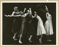 """Production shot from the Broadway show """" For Colored Girls Who Have Considered Suicide When the Rainbow Is Enuf,"""" 1975"""