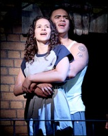 "Mandy Gonzalez and Christopher Jackson in ""In The Heights."""
