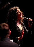 Mandy Gonzalez in concert. She's performed