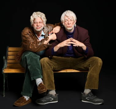 NIck Kroll and John Mulaney in Oh, Hello on Broadway