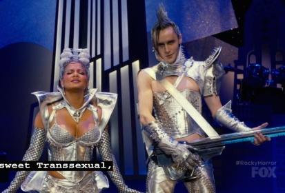Christina Milian (Magenta) and Reeve Carney (Riff Raff)