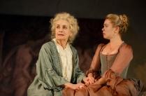 Mary Beth Peil as Madame de Rosemonde (Valmont's aunt) and Birgitte Hjort Sørensen in Broadway debut as Mme. de Tourval