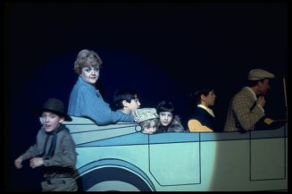 "Angela Lansbury (2L) in a scene from the Broadway revival of the musical ""Gypsy""."