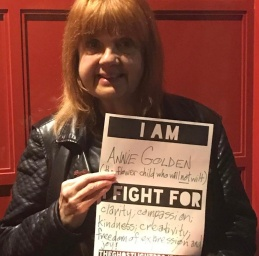 Annie Golden at Ghostlight Project ceremony at Cherry Lane Thater