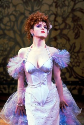 "Bernadette Peters in a scene from the Broadway production of the musical ""Into The Woods""."