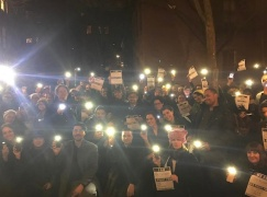 The Ghostlight Project, outside theaters in all 50 states (here outside the Cherry Lane Theater in Greenwich Village), January 19, 2017