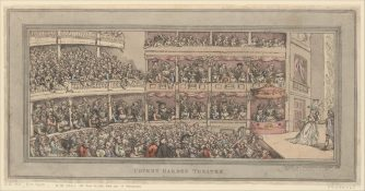 Covent Garden Theater, 1792 by Thomas Rowlandson
