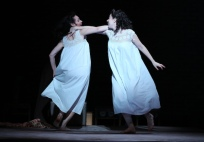 (l-r): Katrina Lenk as 'Manke,' Adina Verson as 'Rivkele' in INDECENT,