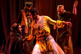 2 DEVEN KOLLURI , JONATHAN RAVIV, NIKHIL SABOO and OSH GHANIMAH in THE BOY WHO DANCED ON AIR. Photography by Maria Baranova