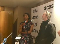 "Condola Rashad, Chris Cooper, A Doll's House, Part 2. Asked when she knew she wanted to be an actress, she told the story of sneaking out on stage during a long blackout in one of her mother Phylicia Rashad's plays. ""They couldn't see me, but I could see them."""