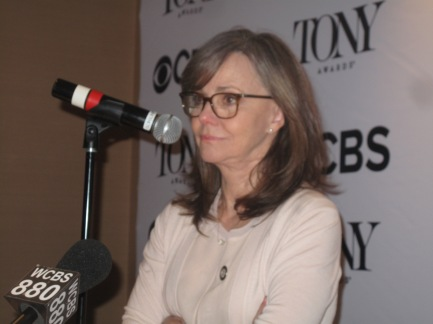 "Sally Field, Best Actress nominee for The Glass Menagerie: Of her preparation for her role: ""I was the one constantly going 'What?!' 'That didn't make sense!' There was a whittling down, a letting-go."" On still working: ""To have a longtime career as an actor, you have to want it more than you ever thought you'd want it."" On how she became an actress. It started at age 12. The stage freed her. ""When I was off stage I was all things little girls had to be in the 50s. I had to put it all back in the box."""