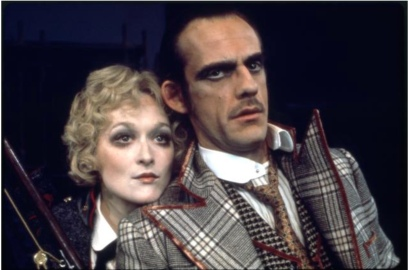"Meryl Streep and Christopher Lloyd in the Chelsea Theater Center production of Bertolt Brecht's ""Happy End"" during BAM Spring Series, 1977"
