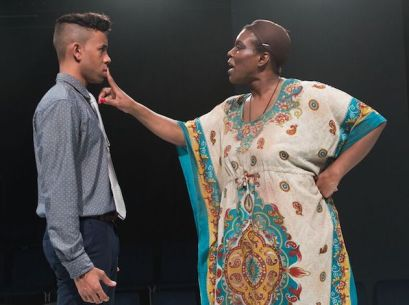 "Michael-Anthony Souza as Honest/Helen and Julienne ""Miss June"" Brown as Hecuba."