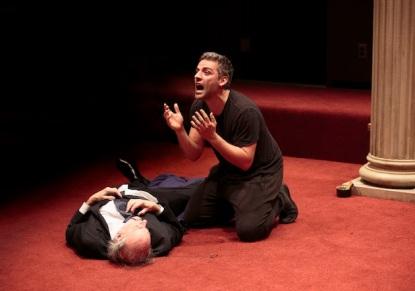 Oscar Isaac in Hamlet at the Public Theater